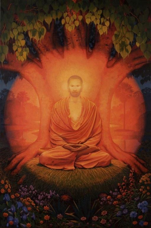 Representación moderna de Siddharta Gautama despues de la Iluminación